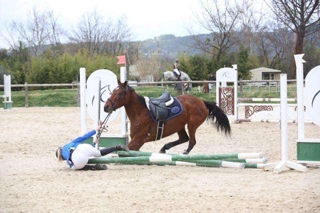 chute equitation